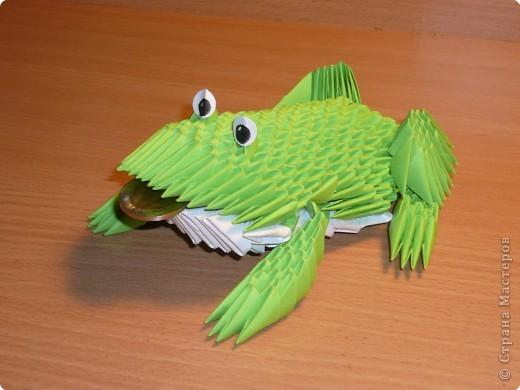 Оригами модульное: лягушка фото 2