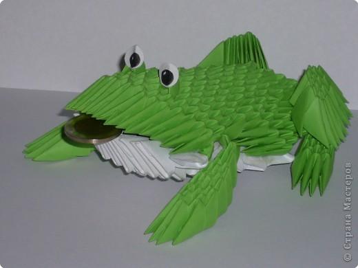 Оригами модульное: лягушка фото 1