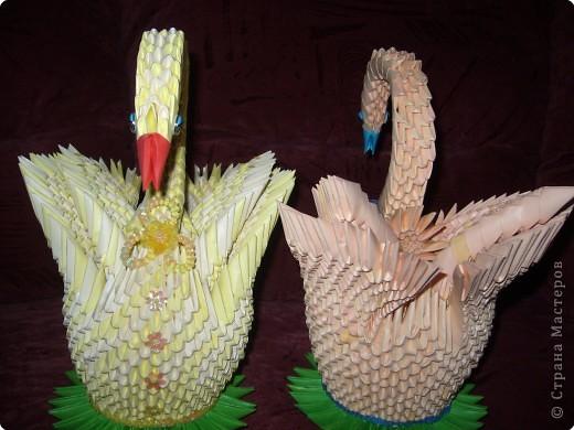 Оригами модульное: Пара лебедей!!! фото 4