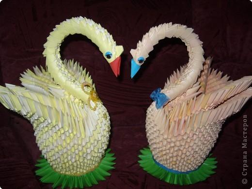 Оригами модульное: Пара лебедей!!! фото 6