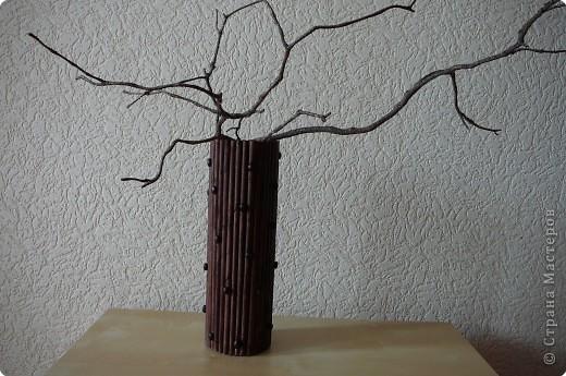 Плетение: Ваза из газетных трубочек. фото 2