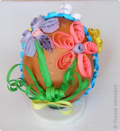Квиллинг: Пасхальное яйцо фото 1