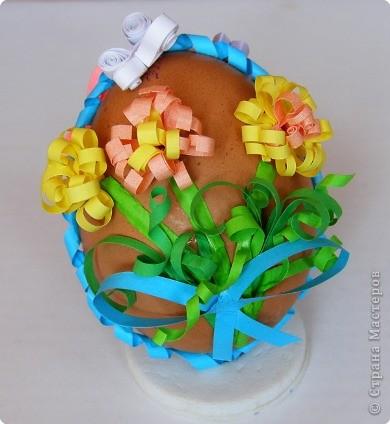 Квиллинг: Пасхальное яйцо фото 2
