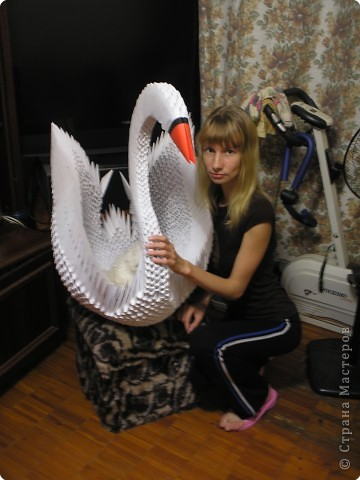 Модули для этой птички собраны из бумаги формата А4 фото 2
