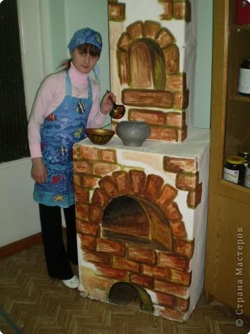 Печка из коробок своими руками