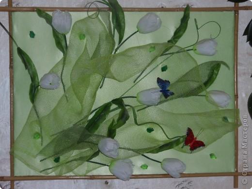 Ассамбляж: Весенние тюльпаны фото 1