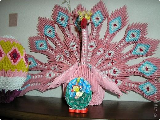 Оригами модульное: Мой павлин фото 2