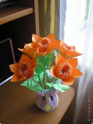 Кусудама, Оригами модульное: цветы фото 1
