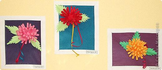 Цветы из бумажных полос