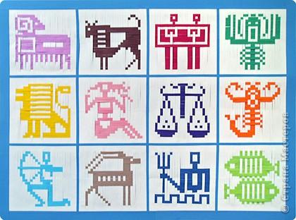 Знаки Зодиака плетём из бумаги