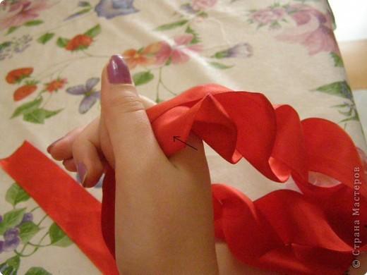 Мастер-класс Розы из атласных лент  мастер класс Ленты фото 10