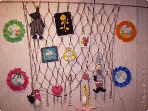 Плетение: сетка из нитей для поделок и игрушек.