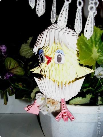 Оригами модульное: Маленький цыпленок фото 1