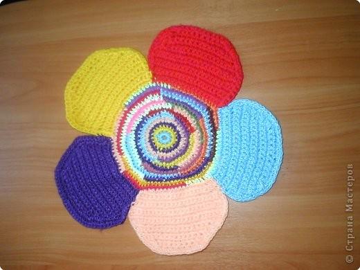 Вязание крючком: Цветок