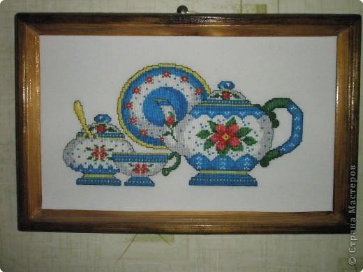 Вышивка крестом: Чайный сервиз фото 1