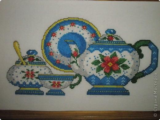Вышивка крестом: Чайный сервиз фото 2