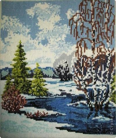 Вышивка крестом: Вешние воды