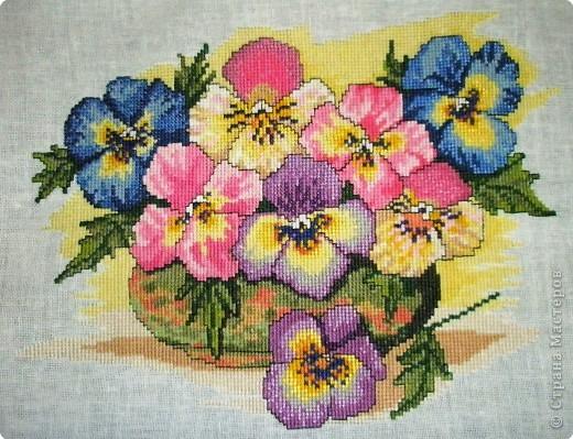 Вышивка крестом: Цветы фото 1