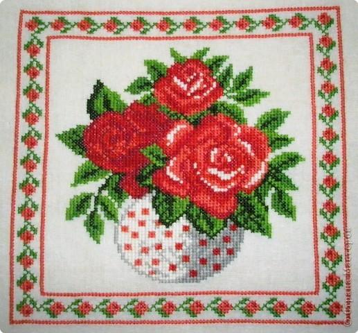 Вышивка крестом: Цветы фото 3