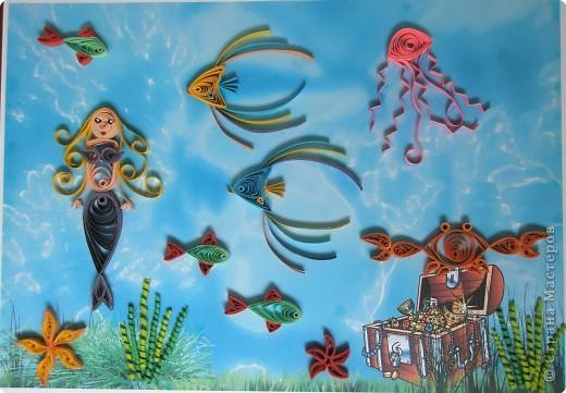 Квиллинг: В подводном царстве фото 2