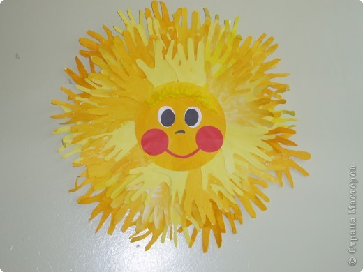Солнышко своими руками фото