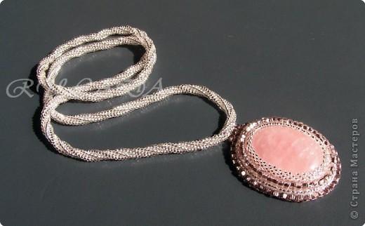 Бисероплетение, Вышивка: Розовое в серебре