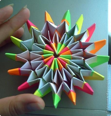 """Оригами модульное: Цветок """"Фейерверк"""" фото 2"""