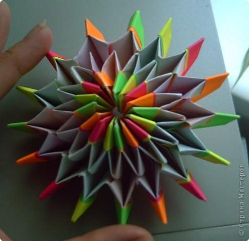 """Оригами модульное: Цветок """"Фейерверк"""" фото 3"""
