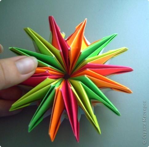 """Оригами модульное: Цветок """"Фейерверк"""" фото 4"""