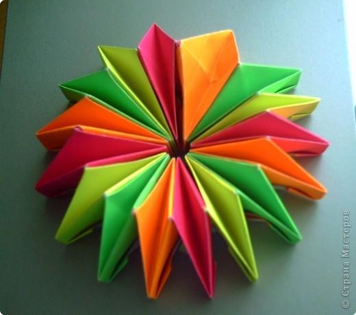 """Оригами модульное: Цветок """"Фейерверк"""" фото 5"""