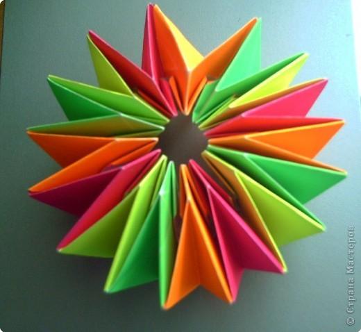 """Оригами модульное: Цветок """"Фейерверк"""" фото 6"""