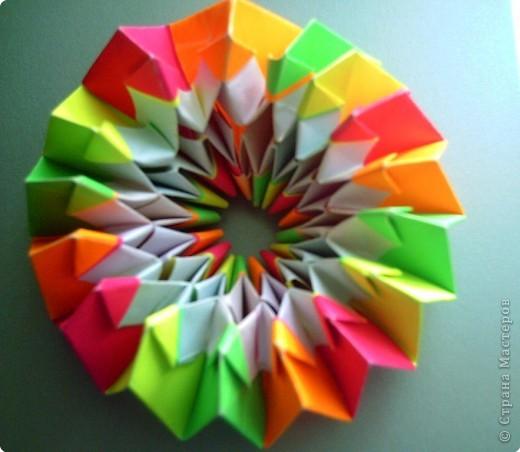 """Оригами модульное: Цветок """"Фейерверк"""" фото 7"""