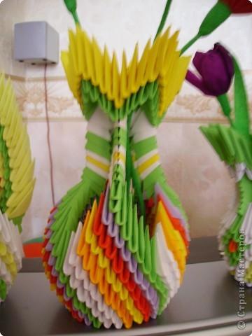 Оригами модульное: Мои цветы и вазы фото 2