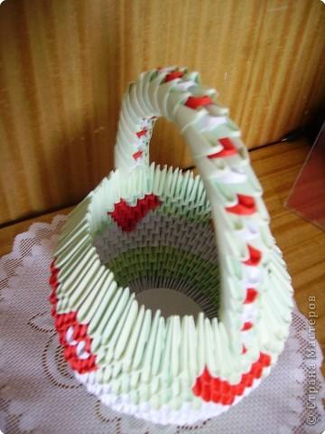 Оригами модульное: Корзинка фото 3