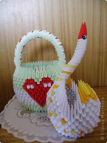 Оригами модульное: Ах эти лебеди и павы!!! фото 5
