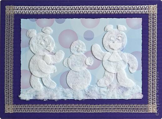 Медведи и снеговик