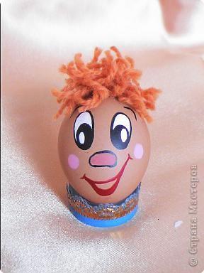 Весёлые рожицы на яйцо