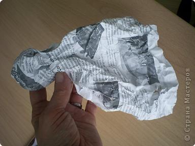 кукла из мятой бумаги. фото 5
