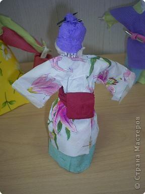 кукла из мятой бумаги. фото 2