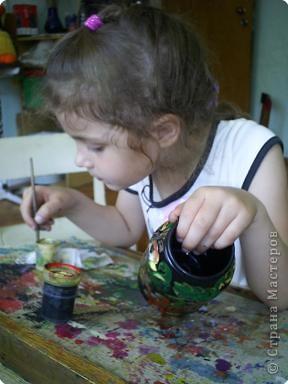 Цветы в жостовской технике на бумаге Лера освоила. фото 3