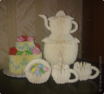 Оригами модульное: Приглашаю на чай))) фото 1