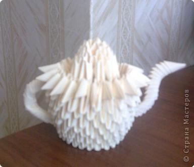 Оригами модульное: Самовар) фото 3