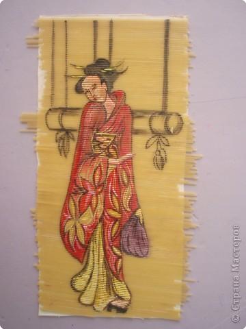 живопись на макаронах(спагетти,гуашь) фото 3