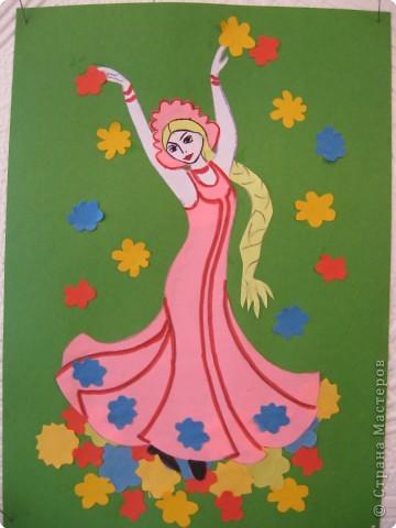 Аппликация: Принцесса Весна