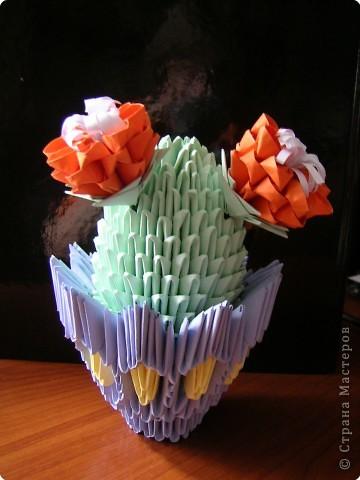 Оригами модульное: Цветущий кактус