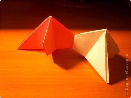 """Кусудама """"Электра"""". Автор David Mitchell Для работы приготовьте квадраты со стороной 75мм. Хорошо подходят стикеры двух цветов (http://stranamasterov.ru/node/16443) по 60 квадратов разного цвета.  фото 14"""