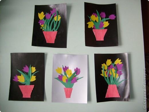 Аппликация: Хороши в саду у нас цветочки...