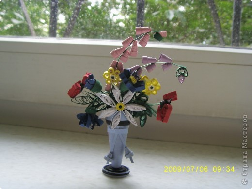 Квиллинг: Букет полевых цветов