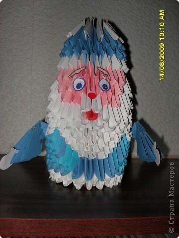 Оригами модульное: Дед Мороз