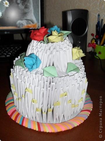 Оригами модульное: торт(низкокаллорийный)